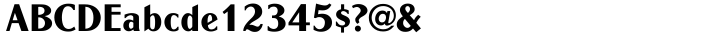 Globe Font Sample