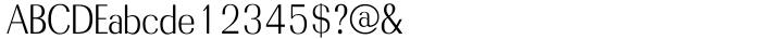 Radiant™ Font Sample