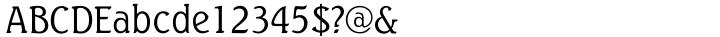 Seagull Font Sample