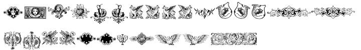 Renaissance Ornaments Font Sample