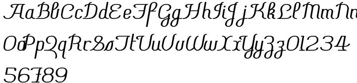 Chiara Script Font Sample