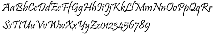 Pristina™ Font Sample