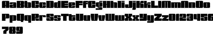 Muscle™ Font Sample