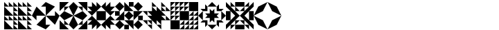 Quilt Patterns Three Font Sample