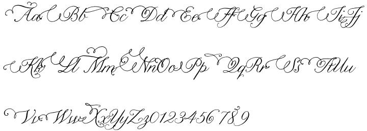Nelly Script Flourish™ Font Sample