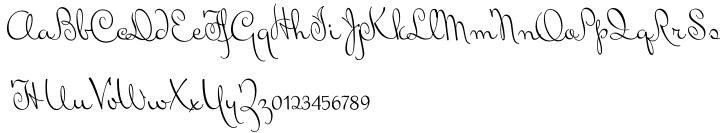 Mrs Von Eckley Font Sample