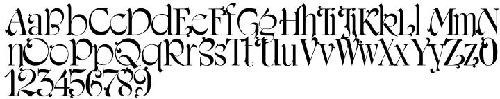 Amerigraf Font Sample