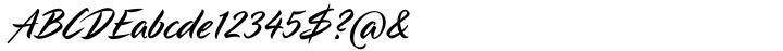 LP Pinselschrift Font Sample