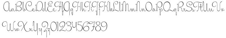 Miss Stephams Font Sample