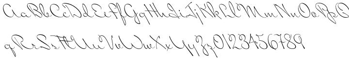 Miss Blaker Font Sample