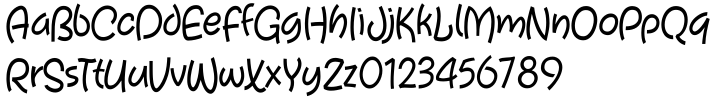 Tiggly Wiggly™ Font Sample