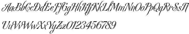 Bellas Artes Font Sample