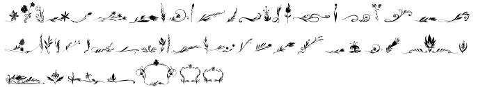 Blue Goblet Florals™ Font Sample