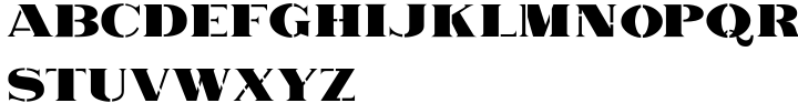 Railyard Stencil JNL Font Sample