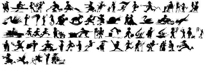 ITC Shadowettes™ Font Sample