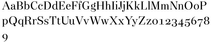 Narziss Text Font Sample
