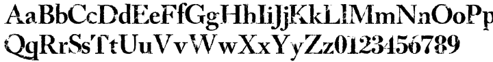 LD Bostonian Font Sample