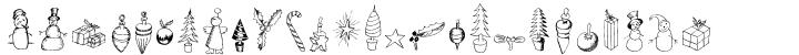Christmas Fleurons Font Sample