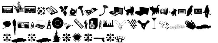Fenotype Dingbats™ Font Sample