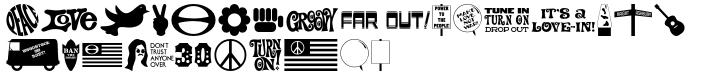 Sixties Symbols JNL Font Sample