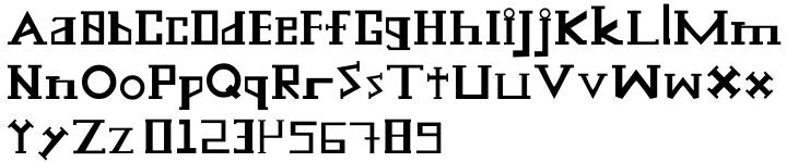 Scatterbrain Font Sample