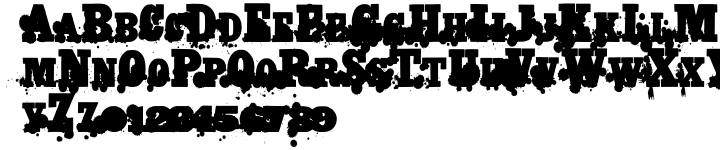 Monkey Was Here Font Sample