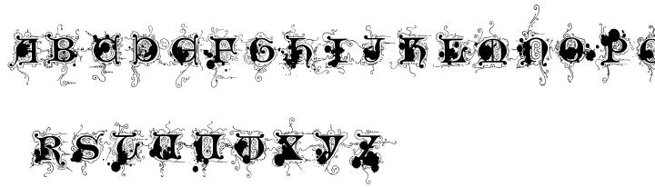 Monkey Messed Gutenberg Caps Font Sample