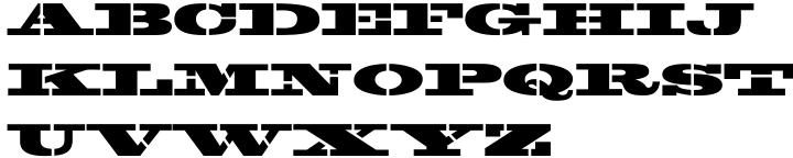 Jailbreak JNL Font Sample