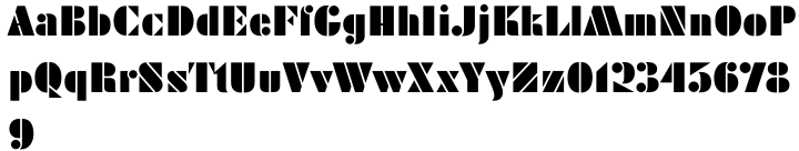 Reklame Stencil Font Sample