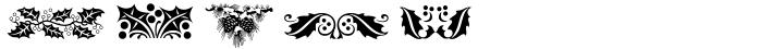 Holiday Pi Font Sample