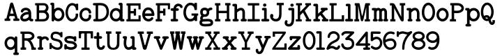 Baltimore Typewriter Font Sample