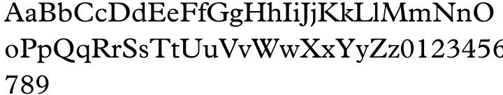 Plantin® Font Sample