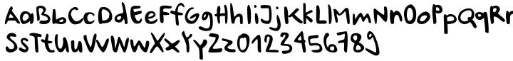 Ursula Handschrift Font Sample