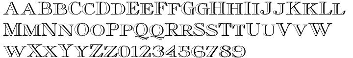 Cavaliere Font Sample