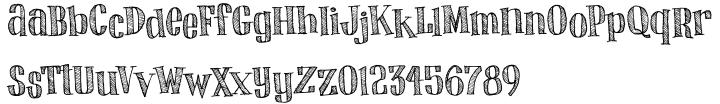 Skritchy™ Font Sample