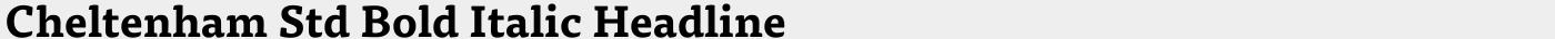 Cheltenham Std Bold Italic Headline