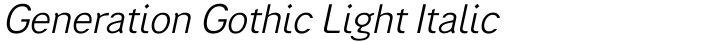Generation Gothic Light Italic