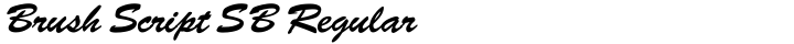 Brush Script SB Regular