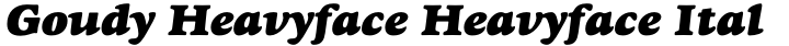 Goudy Heavyface Heavyface Italic
