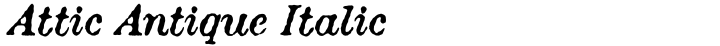 Attic Antique Italic