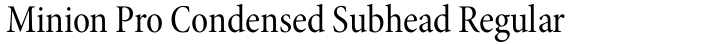 Minion Pro Condensed Subhead Regular