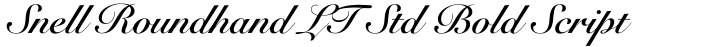 Snell Roundhand LT Std Bold Script