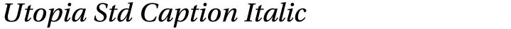 Utopia Std Caption Italic