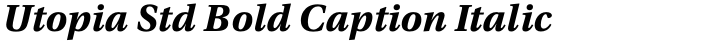Utopia Std Bold Caption Italic