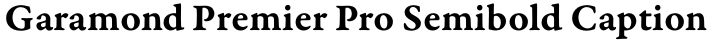Garamond Premier Pro Semibold Caption