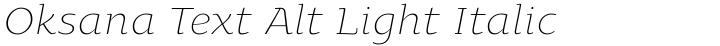 Oksana Text Alt Light Italic
