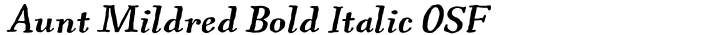 Aunt Mildred Bold Italic OSF