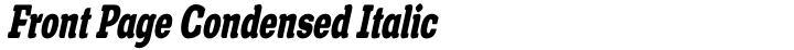 Front Page Condensed Italic