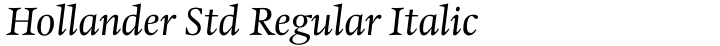 Hollander Std Regular Italic