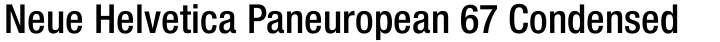 Neue Helvetica Paneuropean 67 Condensed Medium
